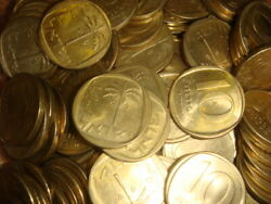 Dealers Lot Israel 10 Agorot Km 26 X 40 Xf- Unc Coins  Coin