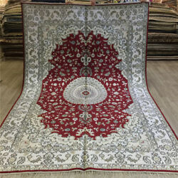 Yilong 6and039x9and039 Red Handmade Hand Knotted Carpets Antique Silk Area Rugs 076c