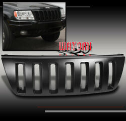 For 99-04 Jeep Grand Cherokee Sport Front Upper Black Abs Grille Grill