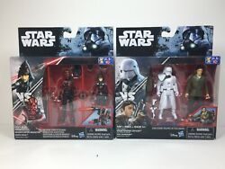 Star Wars Seventh Sister And Darth Maul Snowtrooper And Poe 2-packs 3.75 Inch