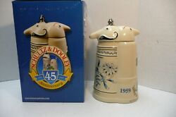 Utica Club Schultz And Dooley 45th Anniversary Beer Stein Signed By Owner Matt