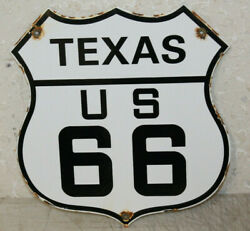 Texas Us Route 66 Vintage Style Porcelain Highway Signs Man Cave Station