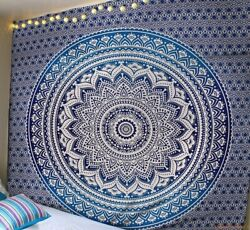 5pc Indian Queen Tapestry Psychedelic Ombre Hippie bedspread Closet Dorm Decor