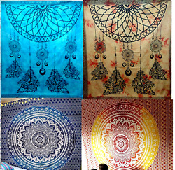 Deal 10pc Indian Queen Tapestry Throw Wall Hanging Hippie Closet Dorm Decor
