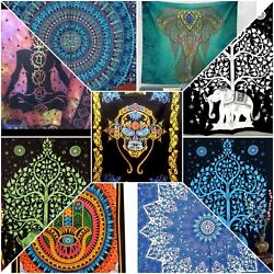 Clearance Sale 10pc Hippie Boho Mandala TWIN Psychedelic Tapestry Dorm Decor