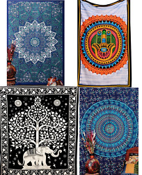 Clearance Sale 20pc Hippie Mandala Boho TWIN Psychedelic Tapestry Dorm Decor