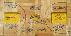 Kobe Bryant - Lakers Retired Jersey Board signed by ALL 10 Laker Legends