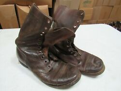 WWII Korea Jump Combat Boots Originals Russet Leather named (9 12 D)