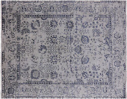 Wool And Silk Hand-knotted Area Rug 8and039 1 X 10and039 3- Q3866