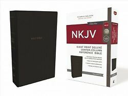 Holy Bible New King James Version, Black Leathersoft, Giant Print Deluxe Ce...