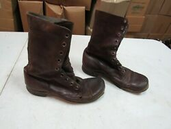 WWII Korea Jump Combat Boots Originals Russet Leather named (8R) #2