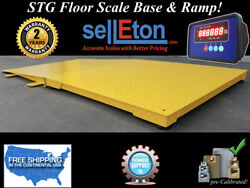 New Industrial 60 X 60 Floor Scale With Ramp 2000 Lbs X .5 Lb Digital Pallet
