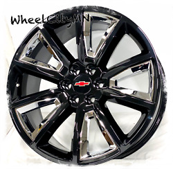 20 Gloss Black Chrome 2015 Chevy Tahoe Suburban Ltz Tahoe Oe Replica Rims 6x5.5
