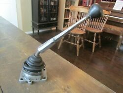 Vintage 4 Speed Shifter Mechanism Import Shift Knob Reverse Down And To The Left