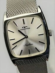 Technos Napoleon Full Original Dead Stock Manual Vintage Watch 1972and039s Overhauled