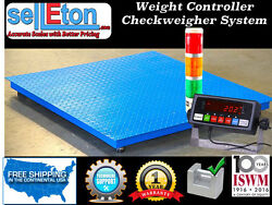 Check Weigher Floor Scale 60 X 60 / Weight Control / Stag Light System