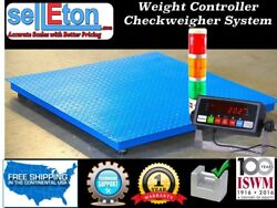 Floor Scale With Check Weigher / Weight Control / Stag Light System/ 60 X 60