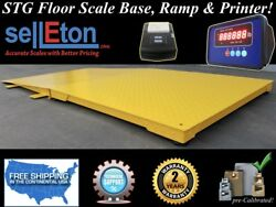 Industrial 60 X 60 Floor Scale With Ramp 10000 Lbs X 1 Lb + Printer / Pallet