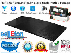 48 X 60 4x5 Smart Ready Floor Scale With 2 Ramps Pallet Size 5000 X 1 Lb.