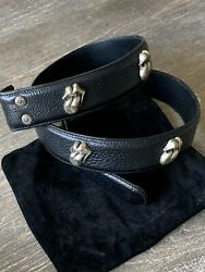Chrome Hearts Rolling Stones Lip And Tongue Leather Belt Sz 32