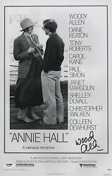 WOODY ALLEN SIGNED ANNIE HALL 11X17 MOVIE POSTER PSA COA X68095
