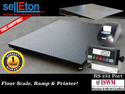 48 X 60 4and039 X 5and039 Heavy Duty Floor Scale With Ramp Printer 2500 Lbs X .5 Lb