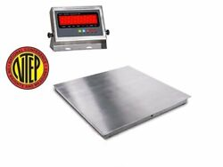 Ntep / Legal Stainless Steel Floor Scale Wash Down 24x24 2and039x2and039 2500 X .5 Lb