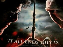 Original Quad Movie Film Poster- Harry Potter Deathly Hallows Part 2-it All Ends