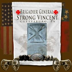 Strong Vincent Monument, Gettysburg, Pa American Civil War Themed Yard Flag