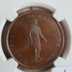 Lc-9a1 Ngc Ms-64 One Penny Token 1837 Bas Lower Canada City Bank Breton 521
