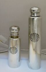 Vintage And Co. Art Deco Period Sterling Silver Cologne Bottles