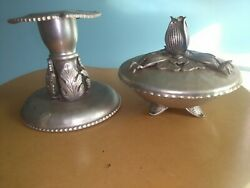 Trade continental hand wrought Candle Holder amp; Candy Dish