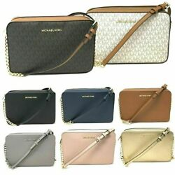 Michael Kors Jet Set Item Large East West Crossbody Chain Handbag Clutch $298 $91.94