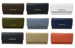 Michael Kors Jet Set Travel Large Trifold Leather PVC Wallet $74.94