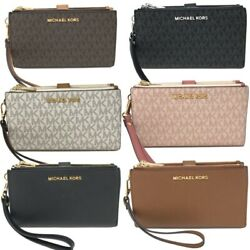 Michael Kors MK Jet Set Travel Double Zip Phone Wristlet Wallet $74.94