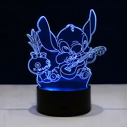 Lilo And Stitch Scrump Led Night Light Lamp Collectible Kids Gift Home Decor