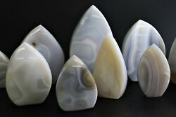 Agate Crystal Shields Natural Grey Large Crystal Range Available