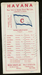 Group Of Five Clyde Steamship Company New York And Havana Direct Mail Line