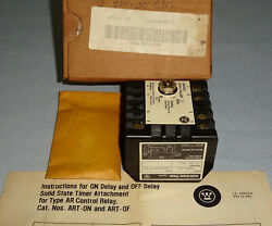 Westinghouse 1264c62g17 Solid State Timer Art-on Control Relay - Art New