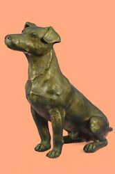Hot Cast Bronze Sculpture JACK RUSSELL TERRIER Dog Ornament by M.Lopez NEW