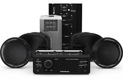 Rockford Fosgate Hd9813rgu-stage2 Source Unit And Four Speakers Kit