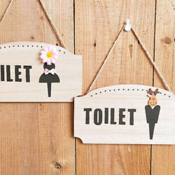 1pc Toilet Hanging Sign Creative Simple Durable Restroom Sign for Home Apartment