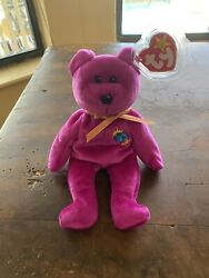 Millennium Bear Ty Beanie Babie - Version One - Extremely Rare Mint All Errors