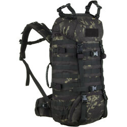 Wisport Raccoon 45l Backpack Army Molle Hiking Hydration Multicam Black Camo