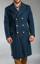 1980and039s Authentic Military Style Vintage Italian Air Force Overcoat