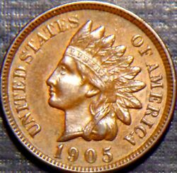 Rare 1905 Indian Head Full Liberty +4 Deep Diamonds In Rich Brown Condition 3