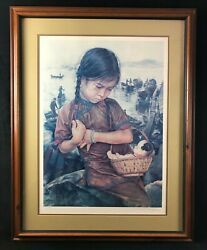 Wish You Had Life Framed Artist Proof Lithograph By Wai Ming
