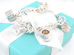 And Co Silver Baby Charm Duck Cup Shoes Bear Bracelet Packaging