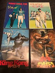 Set Of 4 Vintage Japanese Movie Programs 80and039s King Kong For Joey Bad News Bears