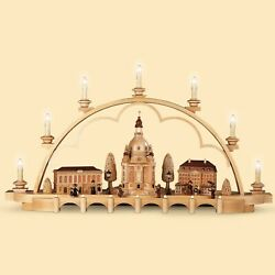 German Candle Arch Old City Of Dresden, Length 80 Cm / 32 Inch, N.. Mu 12860 New